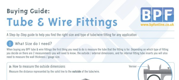 Tube and Wire Fittings Buying Guide