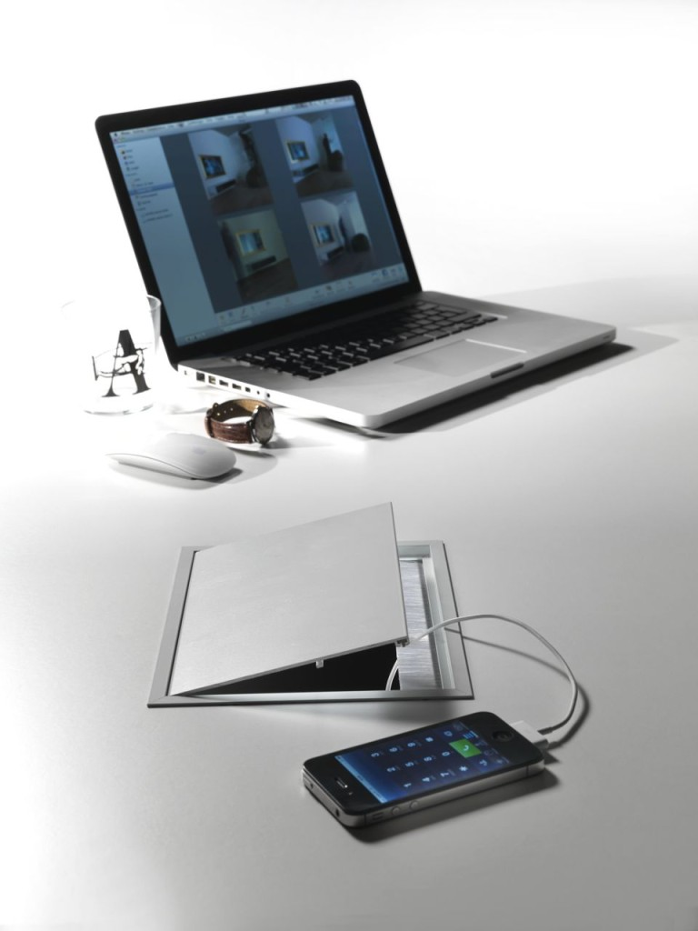 Desktop Access Plates - Rectangular Grommets