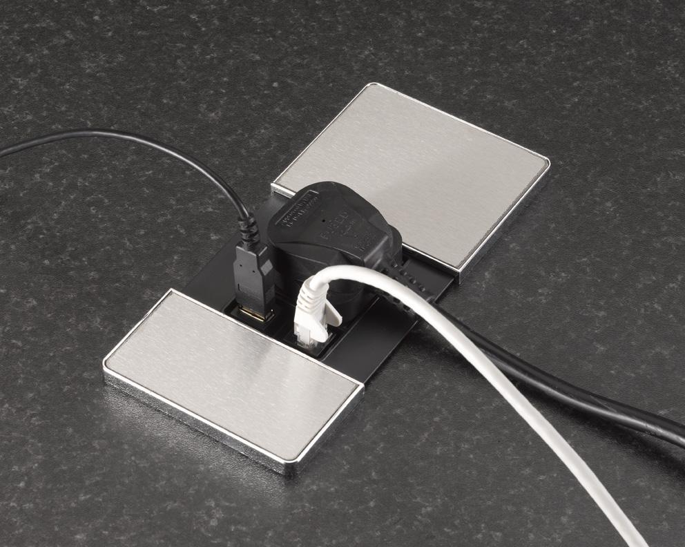 Versapad-Desktop Grommet Power