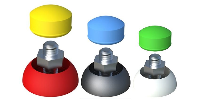 Bolt head cups & Secure cover caps. Colours