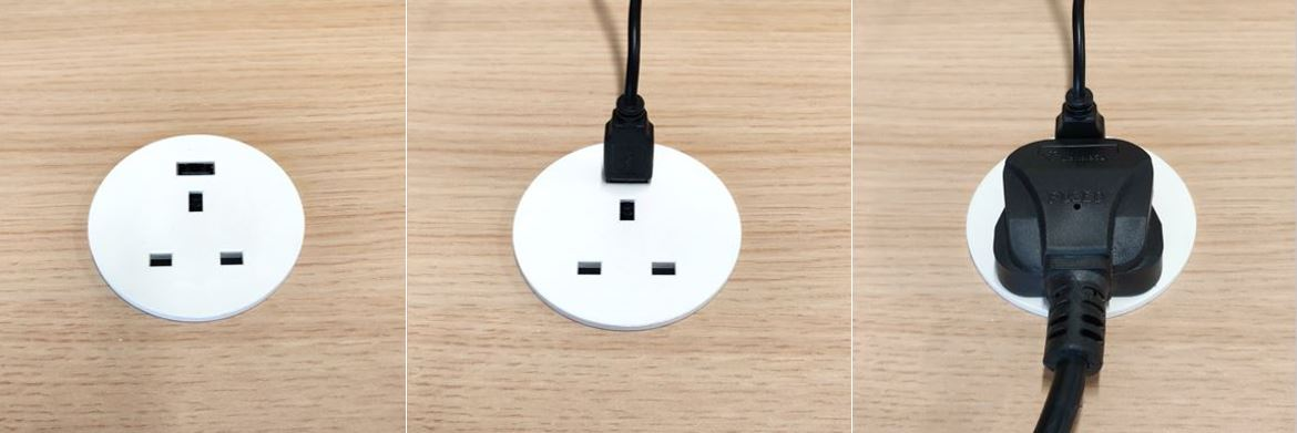 In Desk Power Grommet + USB 5V.2
