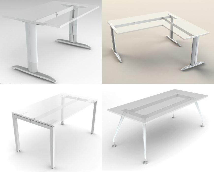 Modular Desk Frames - Shared blades