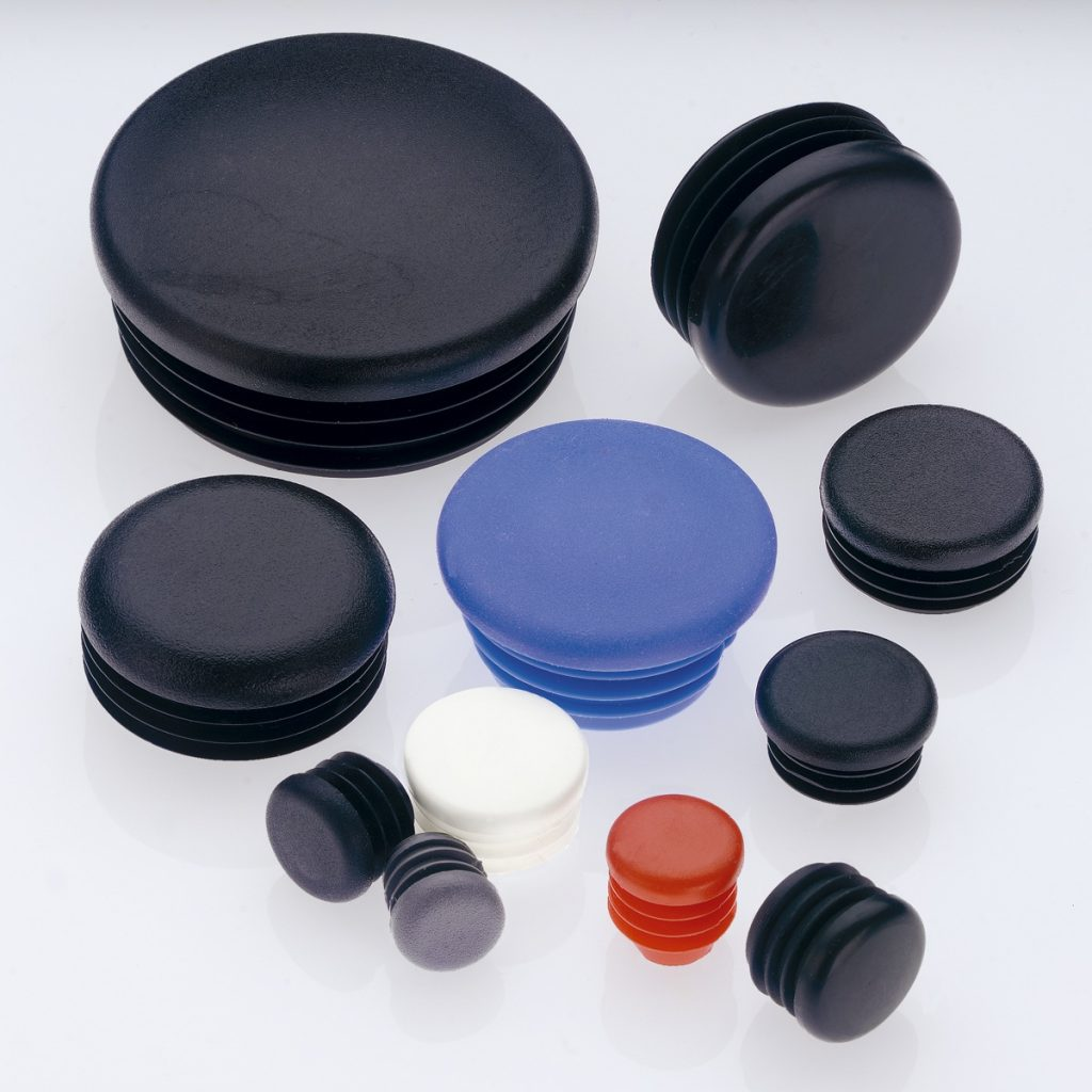 Round Plastic Tube Inserts & End Caps