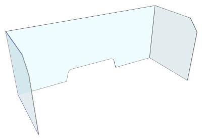 Acrylic Hygiene Screens. Free Standing