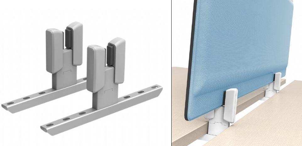 Desk Screen Clamps. Intermediate